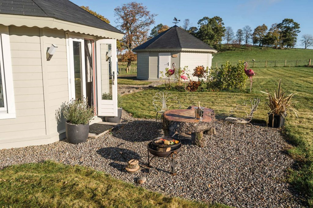Dunroamin Self Catered Lodges Garden